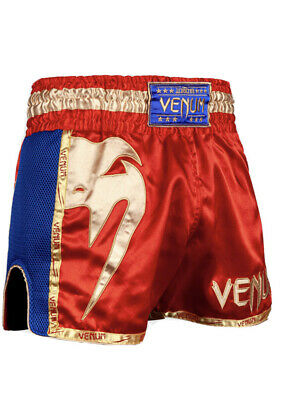 VENUM GIANT MUAY THAI SHORTS - RED/GOLD Size Large