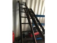 Old Retro Wooden Ladders