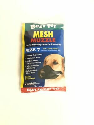 Mesh Dog Muzzle Size 7 80-100 lbs Dogs Best Fit Mesh Dog Muzzle Best Fit Dog Muzzle