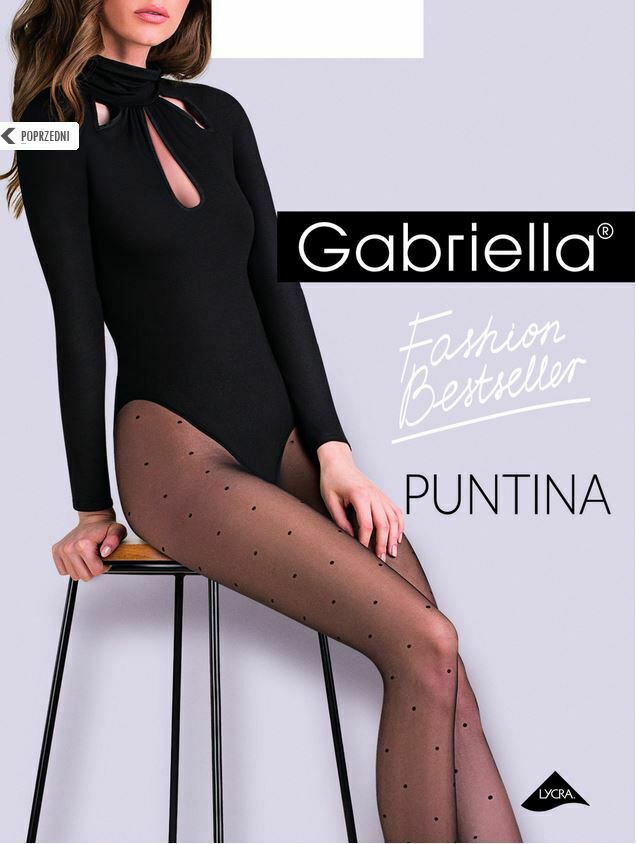 """Gabriella """"Puntina"""" Strumpfhose mit Punkten in schwarz Gr. S - M - L"""