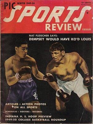 c Sports Review Magazine, Boxing, Joe Louis Jack Dempsey~Fr (Winter Pic)