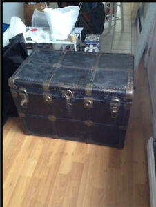 Dark blue (almost black) trunk or treasure chest