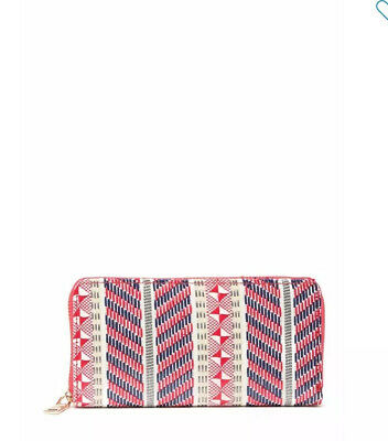 NWT Isabella Rhea Woven Zip-around Wallet