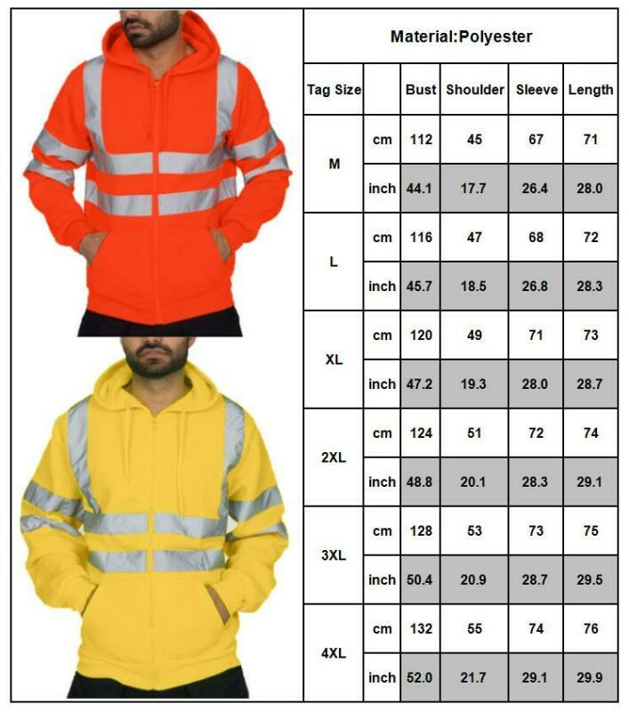 Mens Womens Hi Vis Visibility Viz Waterproof Work Jacket Pants Outdoor Tracksuit