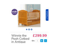 Nursery Furniture Set - Cotbed, Changing Table with Drawers & Cupboard