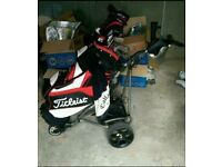 Powakaddy with Titleist cart