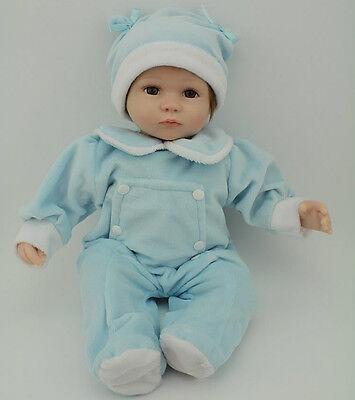 45cm/18''Handmade Lifelike Baby Silicone Vinyl Reborn Newborn Girl Doll +Clothes