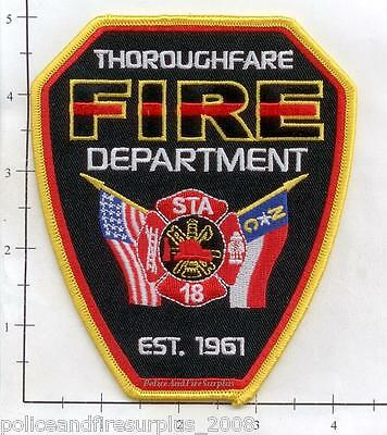 North Carolina - Thoroughfare Station 18 NC Fire Dept Patch  Establish 1961