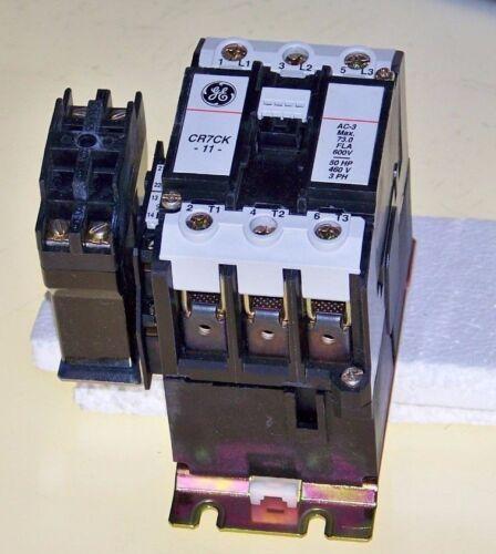 50 hp @ 460 volt 3 pole IEC contactor w/ 480 v coil GE & 24 VDC interface