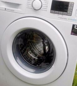 Brand new washing machine with little dents and few scratches SAMSUNG 9KG (ECOBUBBLE)