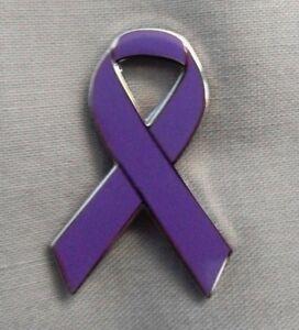 ***NEW*** Dementia Awareness ribbon enamel purple badge. Charity.