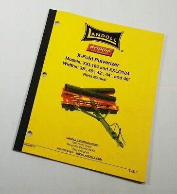Landoll X-fold Pulverizer Models Xxl184 Xxlo184 38 40 42 44 Parts List G-gl