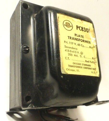 vintage STANCOR PC830 PLATE TRANSFORMER - Working - 415-0-415 V @ 200 MA. D.C.