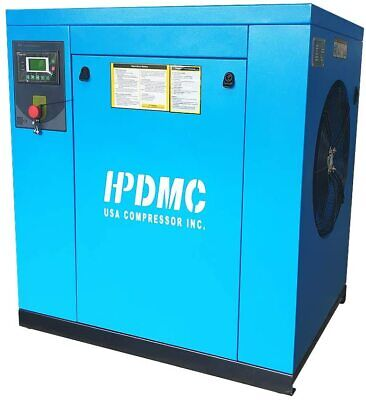 20 Hp 230-volt 3-phase Stationary Electric Rotary Screw Air Compressor Hpdmc