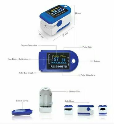 Fast Shipping Contec Cms50 Finger Pulse Oximeter Portable Spo2 Monitor