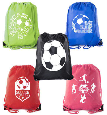 Soccer Party Favors|Soccer Drawstring Backpack for Birthday Parties,Team events