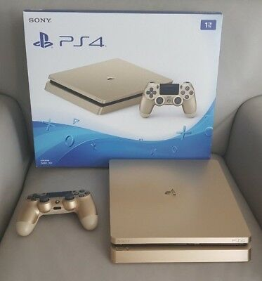 Used, Sony PlayStation 4 Slim Limited Edition 1TB Gold Console PS4 for sale  Canada