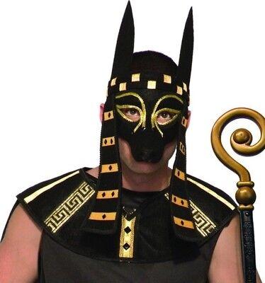 Deluxe Anubis Costume Mask Adult Egyptian Black Dog Canine god of Afterlife - Anubis Egyptian God Costume