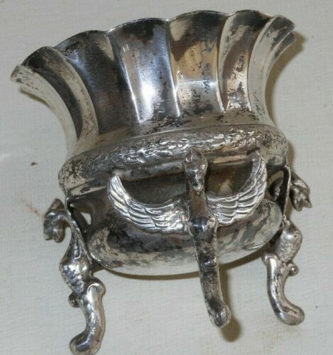 Antique  Ash Tray  Dragons Silver Plate Made In Spain