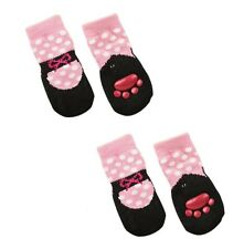 Slipper Ballet Socks for Dogs - Pink - S - M - Perfect indoor footwear