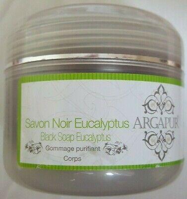 Premium Moroccan Olive Oil Eucalyptus Black Soap Beldi Savon Noir Hammam 200g