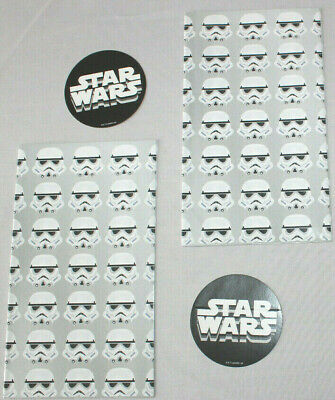 BOYS DAD MENS STAR WARS STORM TROOPER GIFT WRAP SET BIRTHDAY WRAPPING PAPER