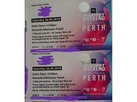 2 Tickets for Bigger Weekend - Perth - 26 May 2018