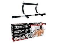 Iron Gym Door Bar - Pushup, Pullup, etc Bar