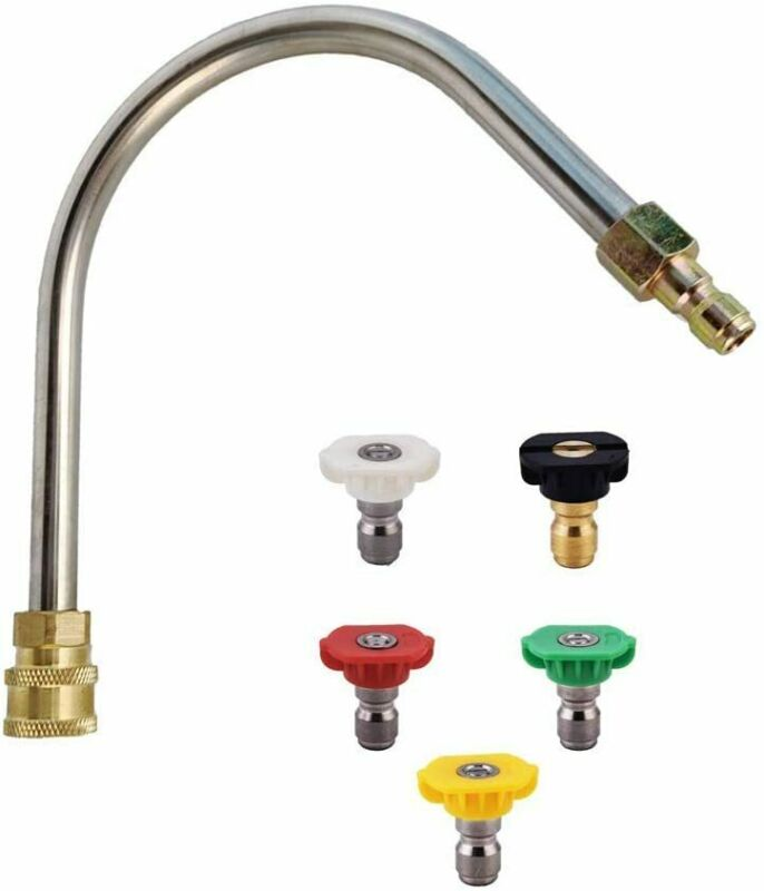 Pressure Washer Gutter Cleaner Attachment with 5 Spray Nozzle Tips, 4000 PSI