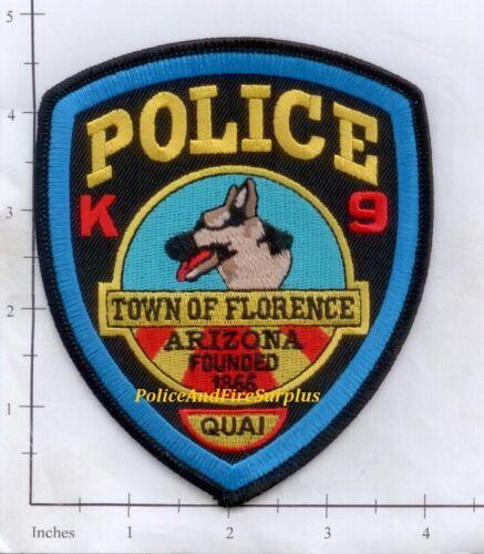 Arizona - Florence AZ K-9 Police Dept Patch K9