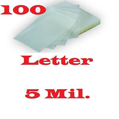 100 Letter 5 Mil Laminating Laminator Pouches Sheets 9 X 11-12
