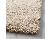 2x3m high-pile rug, colour is 'off white' (£120 RRP at Ikea)