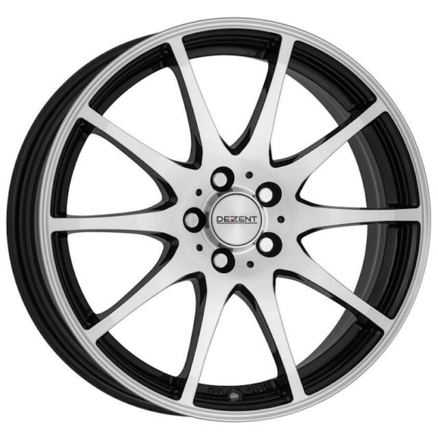 "16"" DEZENT TI DARK MATT BLACK POLISHED FACE ALLOY WHEELS ONLY NEW 5x115 RIMS"