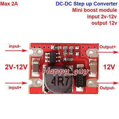 Mini Step Up Converter Dc-dc 3v 3.7v 5v 6v To 12v Boost Voltage Module Regulator
