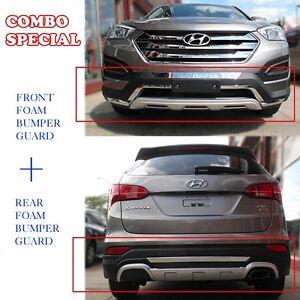 Front & Rear Skid Plate Bumper Poly Diffuser Guard [Fit: 2013-15 Santa Fe Sport]
