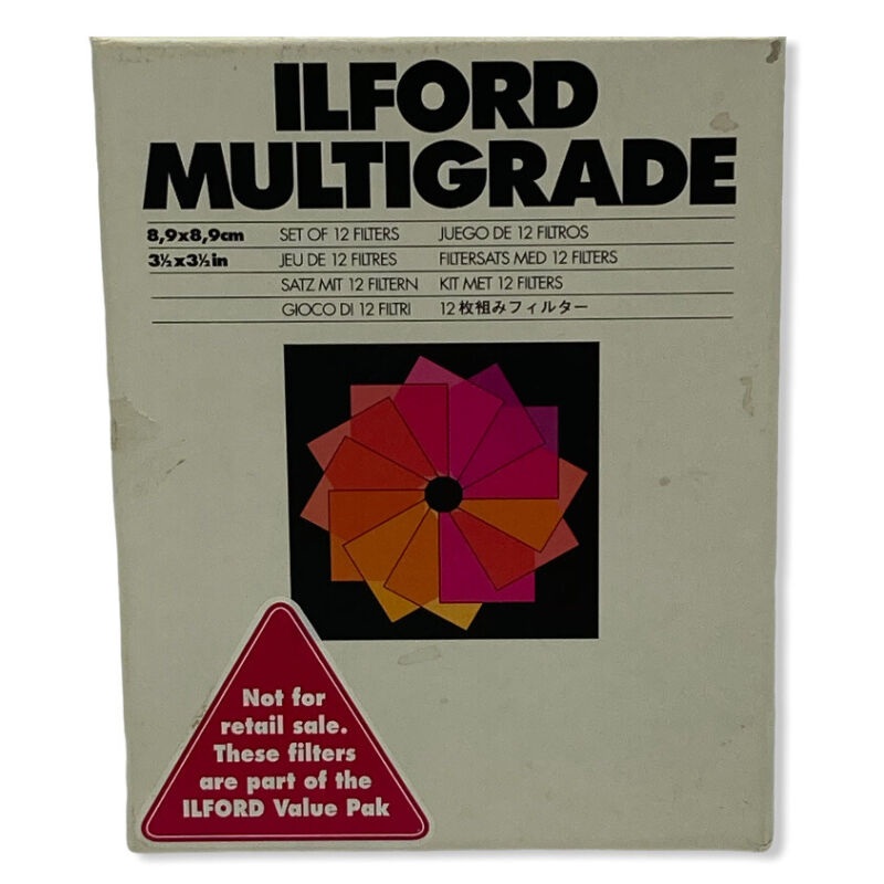 ILFORD MULTIGRADE SET OF 12 FILTERS 3 1/2 X 3 1/2 COMPLETE