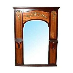 Beautiful-French-Mahogany-Art-Nouveau-Inlaid-Mirror-c-1890-463A