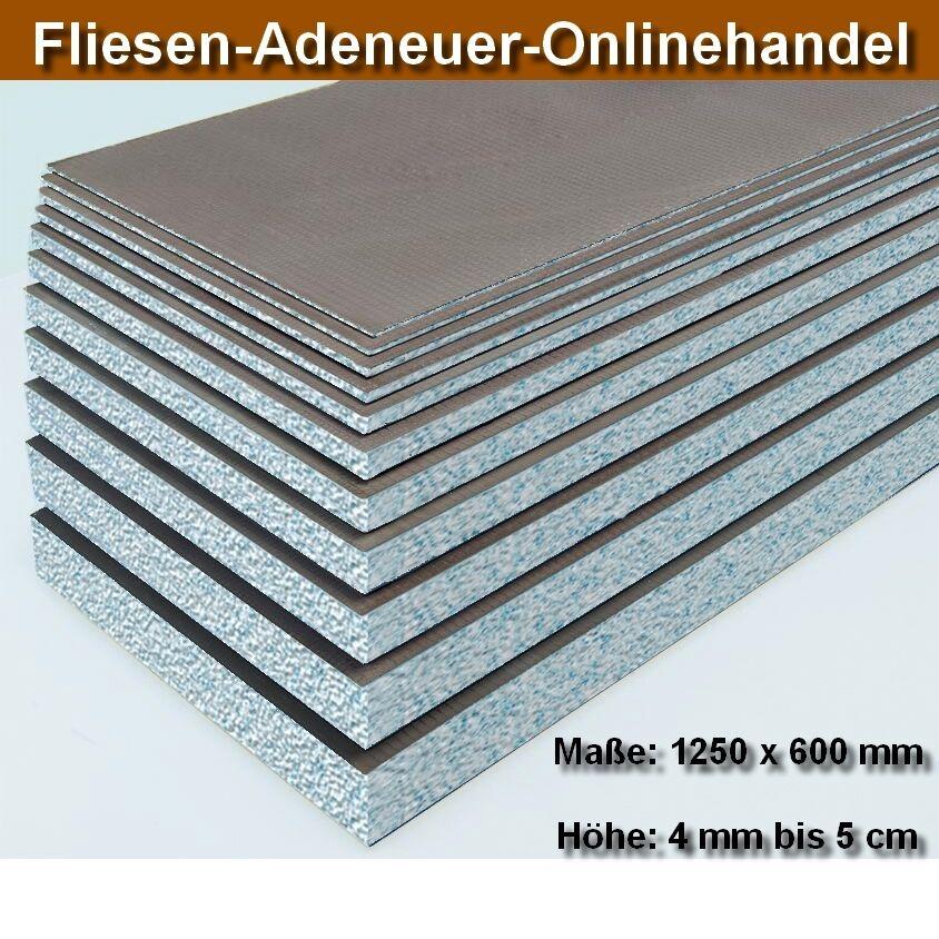 LUX Hartschaum Bauplatte Ausgleichsplatte Fliesenplatte 1250 x 600 mm