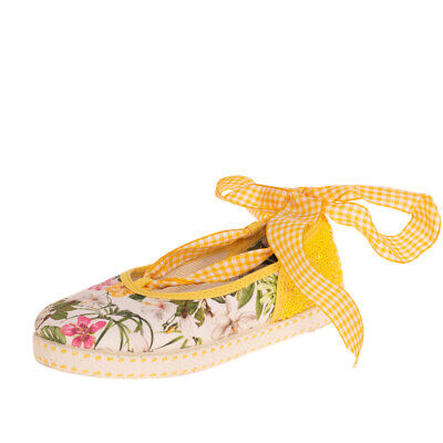 MONNALISA Wrap Around Ballerina Shoes EU 29 UK 10.5 US 11.5 Floral Made in Italy