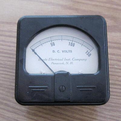 Vintage Beede Electrical Instrument Co. Penacook Nh 150 V. D.c. Volt Panel Gauge