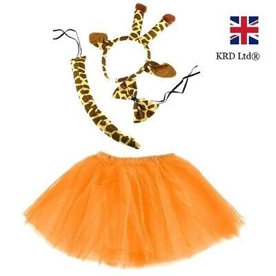Kids GIRAFFE TUTU COSTUME Fancy Dress Halloween Tutu Ears Animal Accessory - Giraffe Tutu Kostüm