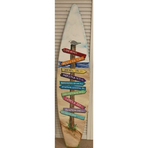Wood 5ft Surfboard Directional Travel Beach Arrow DIRECTION MILE MARKER Sign - $249.99