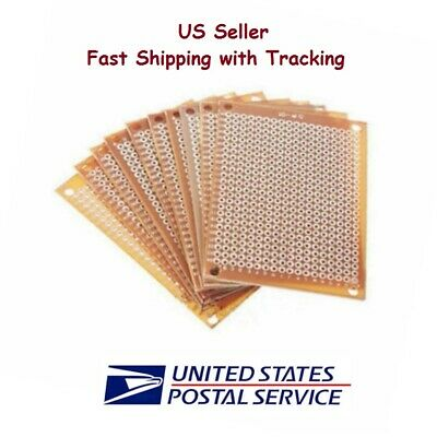 10 Pcs 5x7 Cm Prototype Perf Pcb Single Side Matrics - Us Seller Fast Shipping