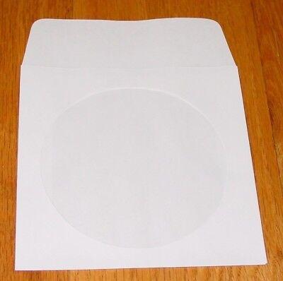Polyline Cd Dvd Sleeve White Paper Envelope 2 Mil Polypropylene Window 1000 Pc