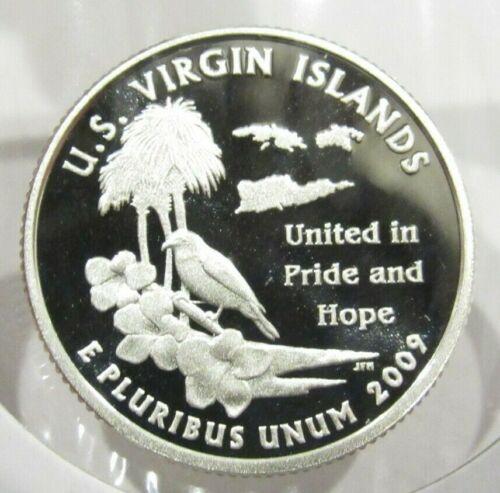 2009-S U.S. Virgin Islands 90% Silver Quarter Proof Coin - San Francisco USVI