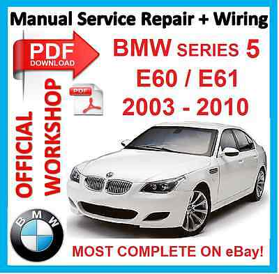 # OFFICIAL WORKSHOP MANUAL service repair BMW series 5 E60 E61 2003 - 2010
