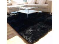 Brand new black glitter rug