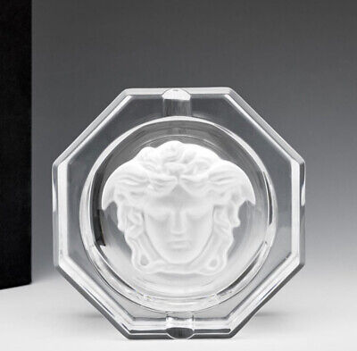 VERSACE MEDUSA ASHTRAY CRYSTAL ROSENTHAL  LUXURY GIFT IDEA SALE 13cm
