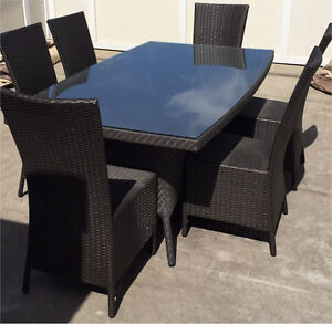Andrew Richards Table + Dot Dining Chairs Patio Dining Set