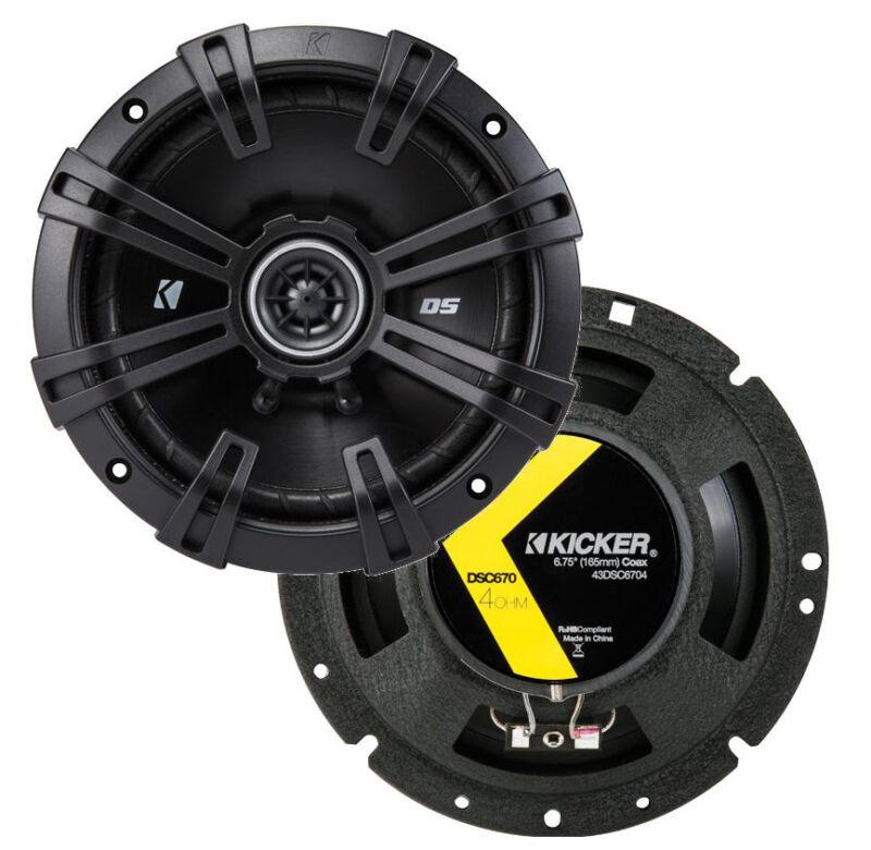 """2) Kicker 43DSC6704 D-Series 6.75"""" 240W 2-Way 4-Ohm Car Audio Coaxial Speakers"""